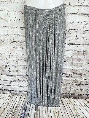 Soft Surroundings Sz Large Gray Black Space Dye Knit Layered Tulip Maxi Skirt Knit Tulip Skirt