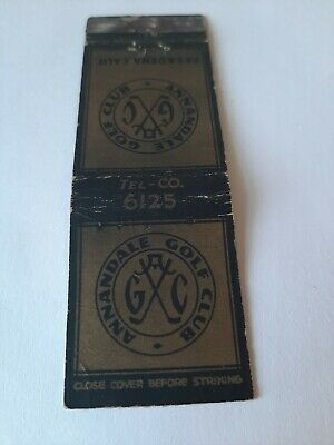 Vintage Annandale Golf Club Pasadena California Matchbook Cover