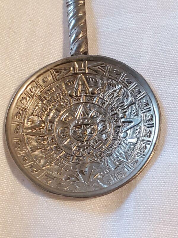 Vintage Mayan spoon Mexico, Marked Mex  bd1