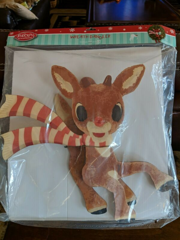 NIP Department 56 Rudolph the Red-Nosed Reindeer Wreath Dangler