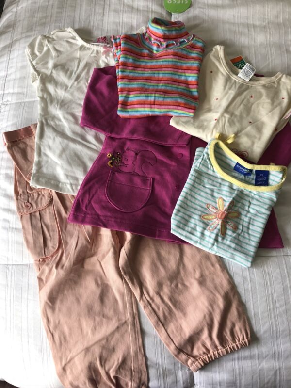 New Girls Lot Of Clothes Size 4t (circo, Genuine Kids & More) Lot Of 6