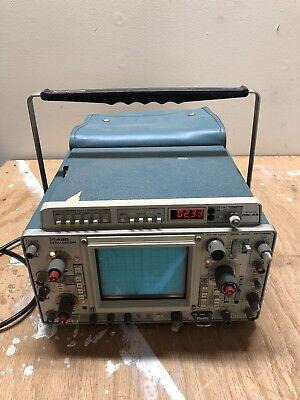 299 Tektronix 465 Oscilloscope With Dm 44 Multimeter