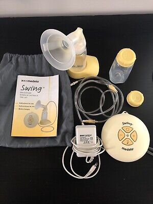 Medela-Swing Single Electric Breast Pump w/ Power Supply And Accessories