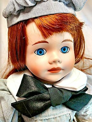 "Dynasty Collection QVC Vintage Verna w/ Auburn Hair 14"" Porcelain Doll MIB"