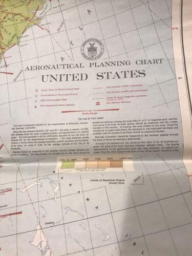 Aeronautical Planning Chart UNITED STATES 1947 US Coast And Geodetic Survey - $30.00