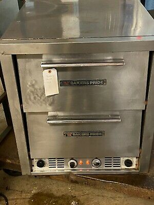 Bakers Pride P46s Electric Countertop Bake And Roast Pizza Oven Double Deck