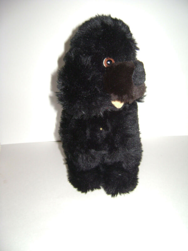 "STEIFF 5447/28 COZY TOBBY POODLE BLACK DOG PLUSH 11""  STUFFED TOY VERY RARE"