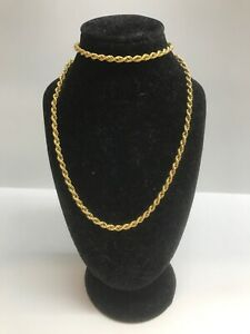 14ct Yellow Gold Necklace Rope Link Nightcliff Darwin City Preview