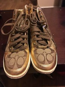 Coach high top shoes size 7.5