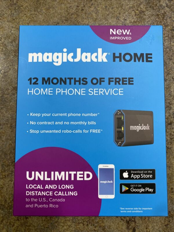 magicJack -  Home VOIP Phone Adapter Unlimited Local and Long-distance Calling