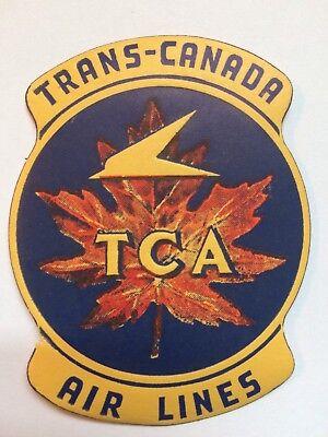 Vintage Unused Trans Canada Air Lines 1940S  Luggage Label