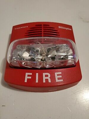 Used Simplex 4906-9127 True Alert Horn With Multi-candela Strobe Red Wall