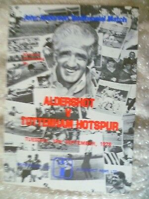 1978 John AndersonTestimonial Match- ALDERSHOT v TOTTENHAM HOTSPUR, 19th Sept