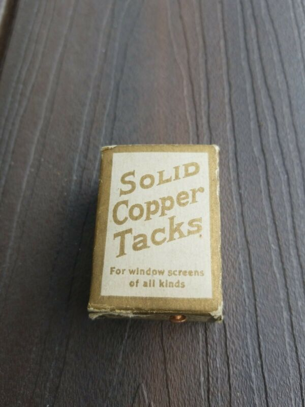 "Shelton Tack Company 3/8"" Solid Copper Tacks  Original Packaging Shelton CT"