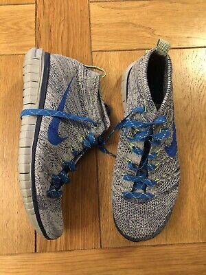 Blue & Grey Knitted Nike Trainers