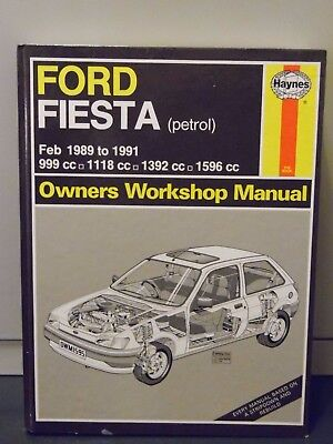 Ford Fiesta (Petrol) Feb 1989 - 1991 Haynes Owners Workshop Manual Hardback