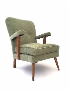 Vintage Retro Mid Century Armchair Danish Era 1960s Modernist Easy Chair
