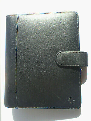 Franklin Covey Black Leather Day Planner 27229.113 6-ring Binder Organizer 9.5