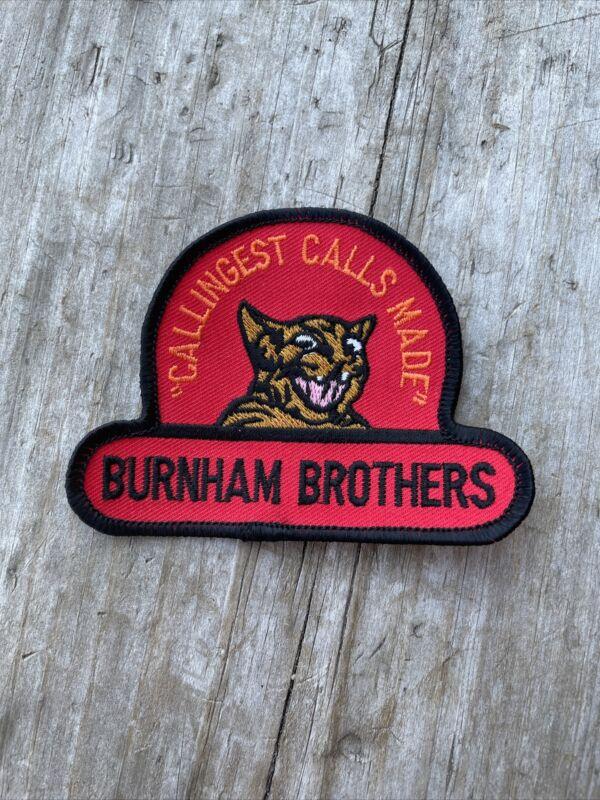 "Burnham Brothers Predator Calls Patch Rare 3"" Hunting Hunter Coyote Bobcat Fox"