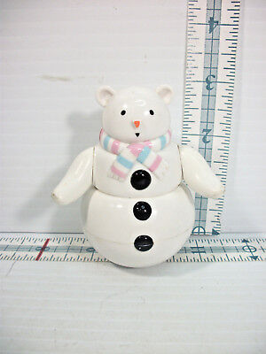 American Girl Bitty Baby Roly Poly SnowBear Toy From 1997 Snowflake Set