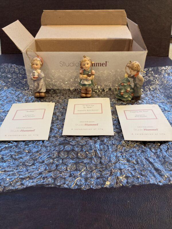Berta Hummel Studio Hummel Ornaments - Set #11 (#96045) w/COAs!!