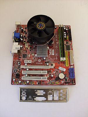 Mainboard Bundle MSI MS-7366 P6NGM + CPU INTEL Dual Core E5200 + 4 GB DDR2 RAM - Dual Core Motherboard