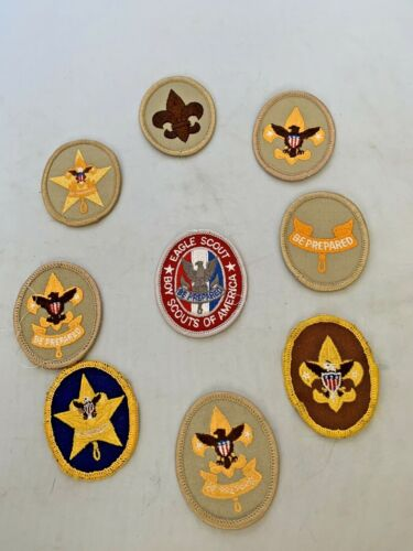 Boy Scout Rank Patches Lot of 9 Vintage - Now Eagle Star First Class
