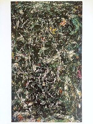 """JACKSON POLLOCK ABSTRACT EXPRESSIONIST LITHOGRAPH PRINT """"FULL FATHOM FIVE"""" 1947"""
