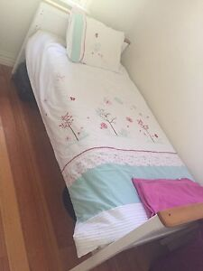 Single white timber bed frame Oakleigh Monash Area Preview