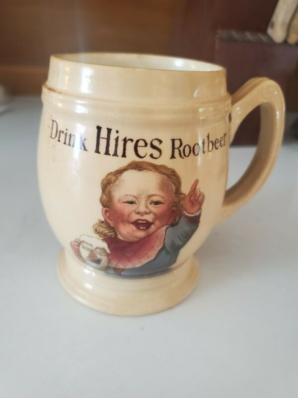 RARE VILLEROY & BOCHl DRINK HIRES ROOTBEER Root beer MUG GERMANY 3095 EXCELLENT