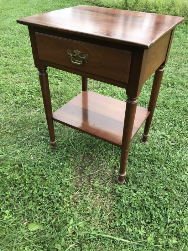 1956 L & JG Stickley One Drawer Cherry Lamp Table, Night Stand Etc..
