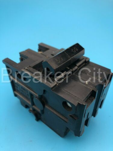 """Federal Pacific / FPE 50 Amp 2 Pole Type NA """"Old Style"""" Stab-Lok (Thick) Breaker"""