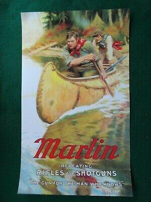 Marlin Advertising Poster Repeating Rifles & Shotguns Philip Goodwin Artist