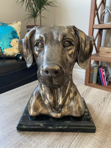 Bronze Labrador Memorial Statue With Marble Stand - CA$199.89