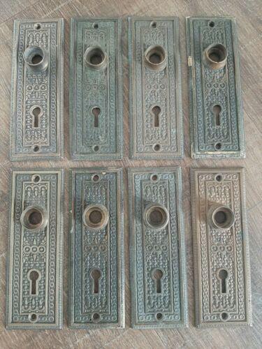 1 Antique Eastlake Victorian Door Knob Back Plate Brass Reading RHC Elaine