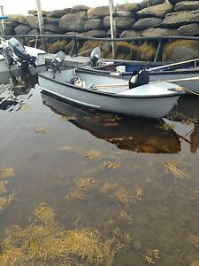 Selling my 14ft and 5ft fibreglass wide  boat and motor