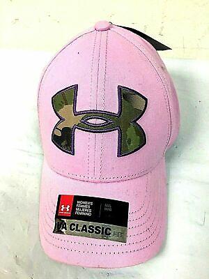 Under Armour Women's M/L Pink Hat Baseball Cap Hat, Camo Logo, Size Medium/Large