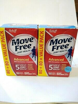 2 Move Free ADVANCED 160 Tabs Each 320 Total Glucosamine Chondroitin 7/2020 - Glucosamine Chondroitin 160 Tabs