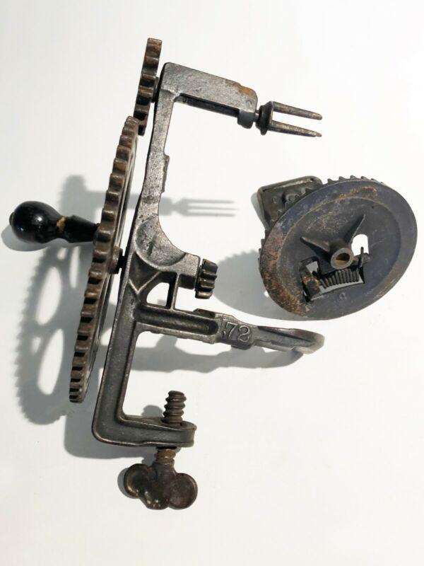 Antique Cast Iron Apple Peeler 1872 - missing pin