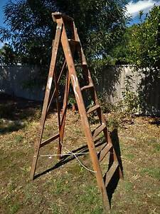 Vintage Mote Wooden Ladder Greenwood Joondalup Area Preview