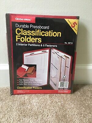 Globe-weis Accordion Brand Durable Classification 5 Folders 10 X 11 34 Folders