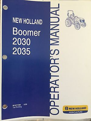 New Holland Boomer 2030 2035 Series Tractor Manual 87477103
