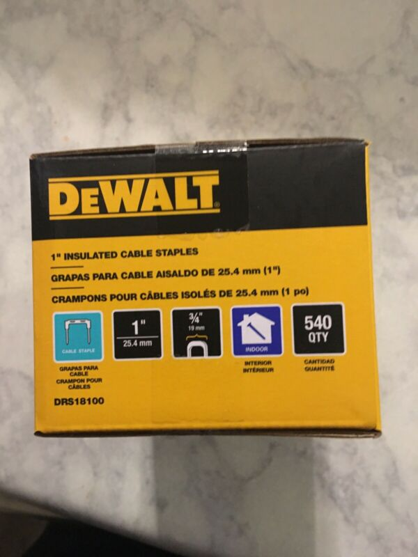 "Genuine Dewalt DRS18100 1"" Insulated Cable Staples for DCN701 Stapler"