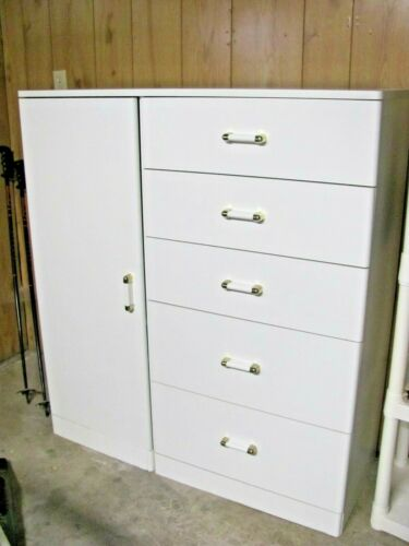 SAUDER BABY DRESSER KID WHITE ARMOIRE FIVE 5-DRAWER DRESSER TODDLER- PICKUP ONLY