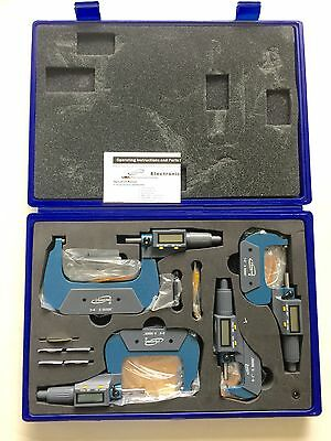 Igaging 0-4 Digital Electronic Micrometer Set 0-1 1-2 2-3 3-4 Large Lcd