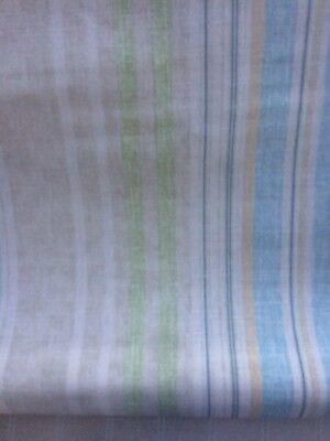 🌿 Laura Ashley Carey Stripe Nautical / Deckchair Fabric - Chalk Blue Green - 7m