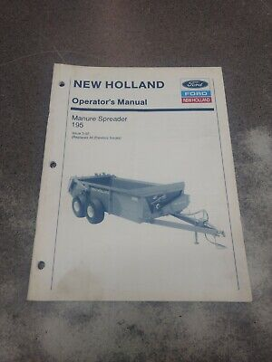 New Holland 195 Manure Spreader Operators Manual 42019522
