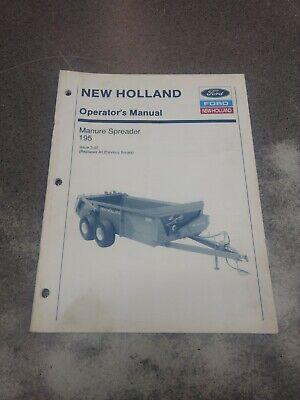 New Holland 195 Manure Spreader Operators Manual 42019522