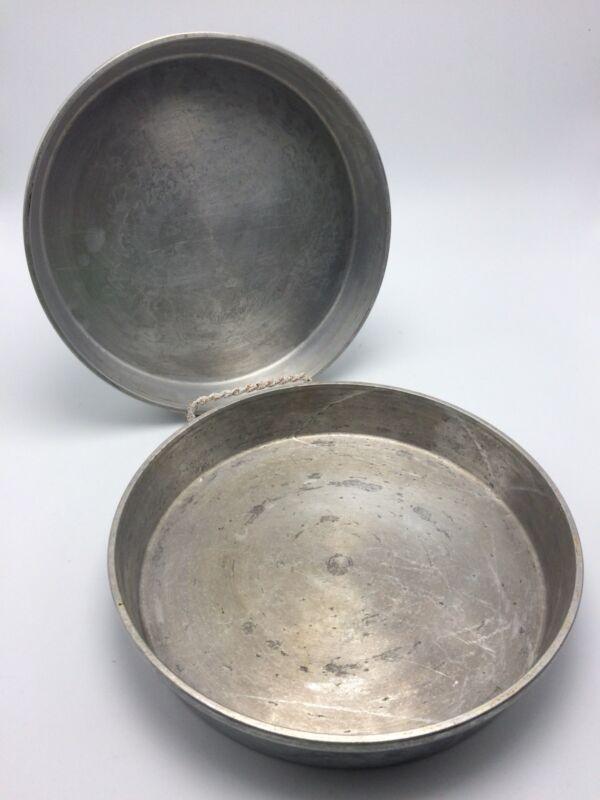 2 Vtg Mirro Aluminum Round Layer Cake Pans #1169M USA 9 x 1.5