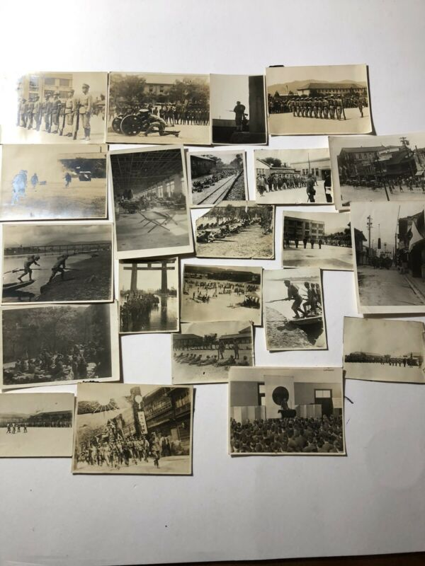 ORIGINAL WW2 PHOTOS OF JAPANESE SOLDIERS TROOPS